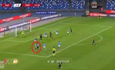 Nedim Bajrami i shënon supergol Napolit në ndeshjen e Coppa Italia