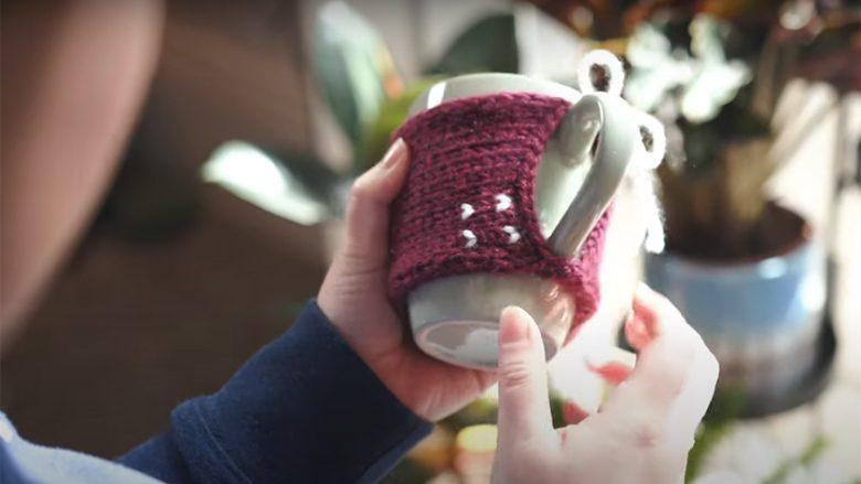 Çorape për filxhan: Bëhet lehtë dhe bëhet kështu