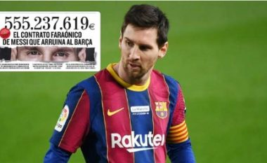"""""""Falimentimi i Barcelonës"""", kontrata marramendëse e Messit ka vlerë prej 555 milionë eurosh"""