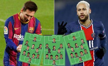 Nëse Messi bashkohet me Neymarin te PSG– këto janë tri formacionet më të mundshme të parisienëve