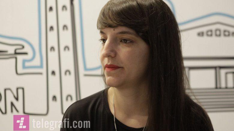 """Blerta Basholli, regjisorja e filmi """"Zgjoi"""" (Foto: Ridvan Slivova/Telegrafi)"""