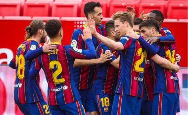 Barcelona merr një fitore të madhe në udhëtim te Sevilla dhe ngjitet në pozitën e dytë në La Liga
