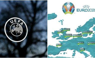 UEFA po mendon t'ia marrë të drejtën e organizimit të ndeshjeve tri qyteteve të mëdha evropiane për Euro 2021