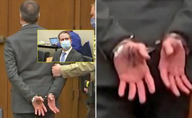 Zbulohet se çfarë kishte të shkruar në dorën e tij polici Derek Chauvin, në gjyqin në të cilin u shpall fajtor