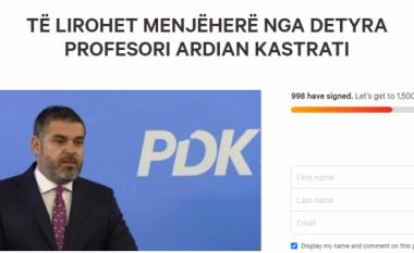 Përfaqësuesit studentorë nisin peticion për largimin e Ardian Kastratit nga UP-ja