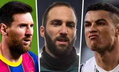 Higuain zbulon sekretin e partneritetit me dy më të mirët e botës, Messin dhe Ronaldon