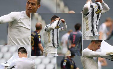 Ronaldo sërish pushton ballinat e mediave: Tani sqarohet se përse hodhi fanellën në fitoren e Juventusit ndaj Genoas