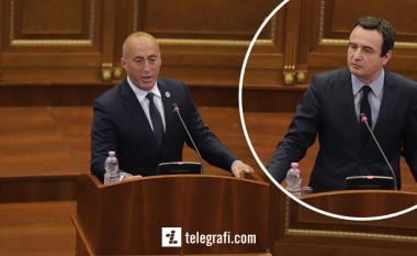 """Haradinaj në Kuvend pyet Kurtin: """"Mos je agjent i Serbisë?"""""""