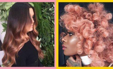 Stilimet që do t'ju bindin t'i lyeni flokët me ngjyrë rozë të artë