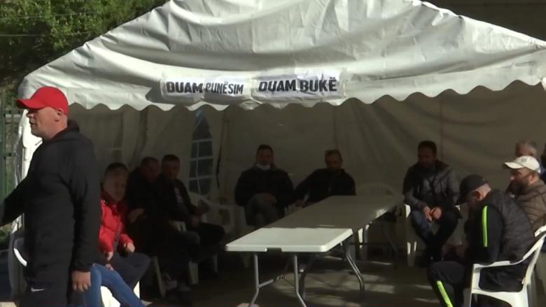 Protesta e qytetarëve para minierës së Trepçës