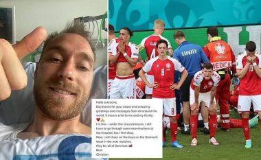 Eriksen poston dhe buzëqesh nga spitali - mesazhi tregon gjendjen e tij tejet të përmirësuar