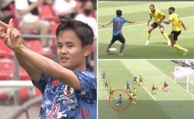 Takefusa Kubo shënon golin më të pazakontë deri më tani me kombëtare - fut topin mes këmbëve të katër lojtarëve