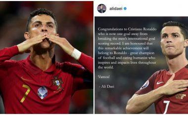 Ali Daei uron Ronaldon për rekordin e arritur