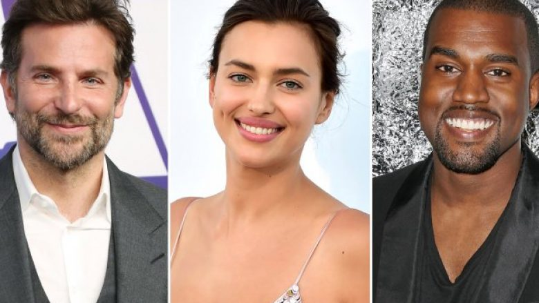 Bradley Cooper, Irina Shayk dhe Kanye West (Foto: Shutterstock)