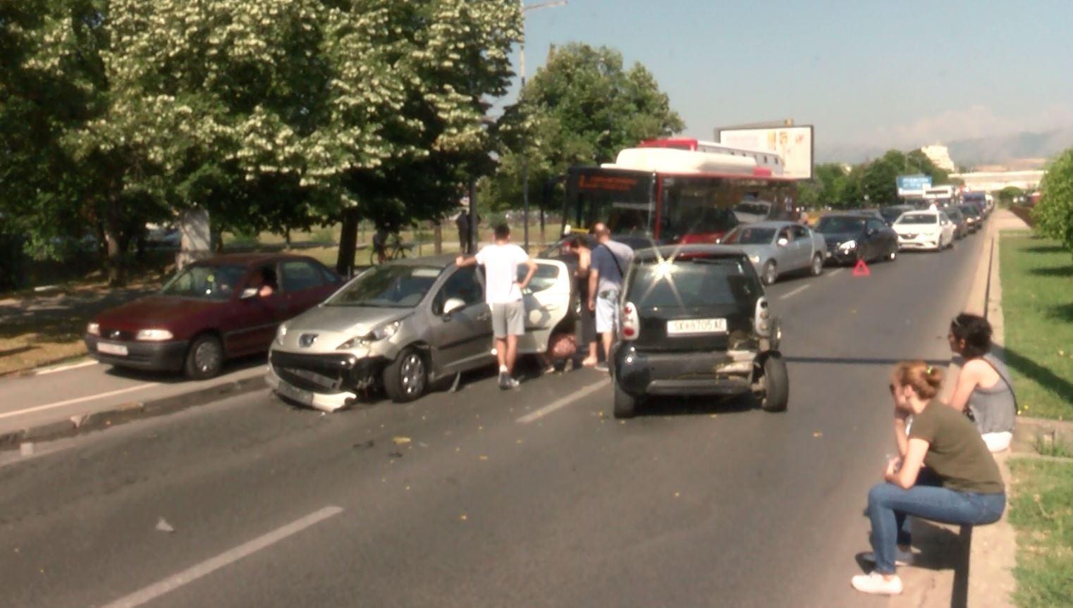 Aksident i rëndë në Shkup, disa të lënduar