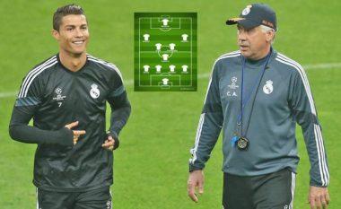 Ronaldo dhe tri transferime tjera të mëdha – Formacioni i mundshëm i Ancelottit te Real Madridi