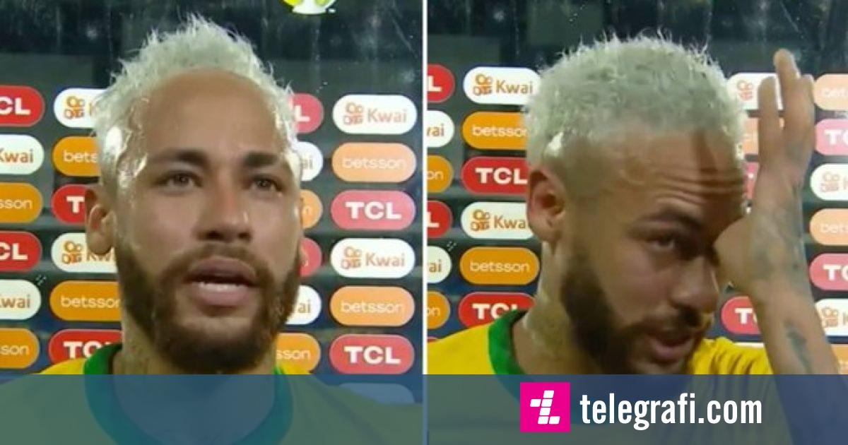 Neymar shpërthen në lot kur e kupton se sa afër është që ta thyejë rekordin e Peles
