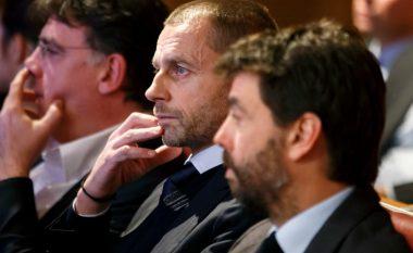 Ceferin: Juve, Real Madrid dhe Barcelona po e kërcënojnë UEFA-n