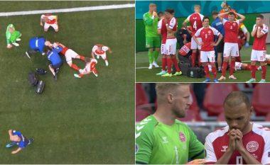 Momente ankthi në ndeshjen Danimarkë-Finlandë, Eriksen bie në tokë pa ndjenja