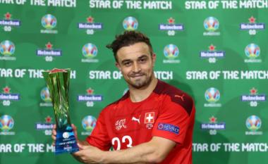 Notat e lojtarëve, Zvicër 3-1 Turqi: Shkëlqyen Xherdan Shaqiri e Granit Xhaka