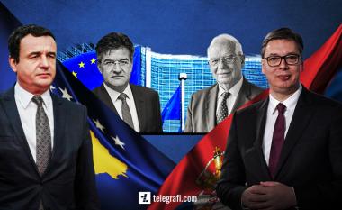Dy takime Kurti-Vuçiq në Bruksel: Opozita vlerëson se nuk ka transparencë as platformë, Qeveria e quan paraqitje dinjitoze