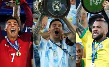 Dhjetë lojtarët me më shumë trofe të fituar në shekullin XXI – Messi i treti, Ronaldo i shtati