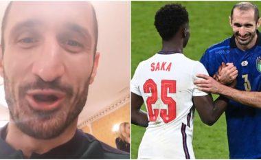 Chiellini konfirmon se e kishte 'mallkuar' Sakan para se të dështonte nga penalltia në finale të Euro 2020