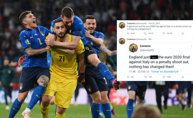 Ishte viti 2013 dhe një tifoz parashikoi se Anglia dështon në penallti ndaj Italisë në finale të Euro 2020