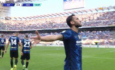 Debutim ëndrrash për Calhanoglut te Interi, asiston dhe shënon brenda 14 minutave në Serie A