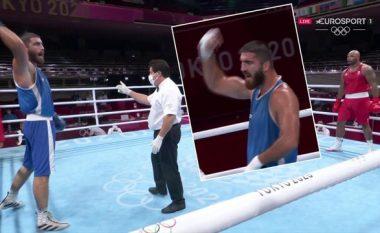 """Nuk e pranoi diskualifikimin në """"Tokio 2020"""", boksieri francez grushtoi kamerën si shenjë proteste"""