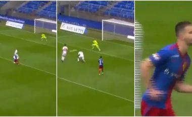 A është Lionel Messi apo Edon Zhgerova? Reprezentuesi i Kosovës driblon disa mbrojtës dhe shënon gol të bukur