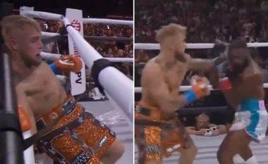 Jake Paul mposht ish-kampionin e UFC, Tyron Woodley në një meç që u dashtë ndërhyrja e gjyqtarëve
