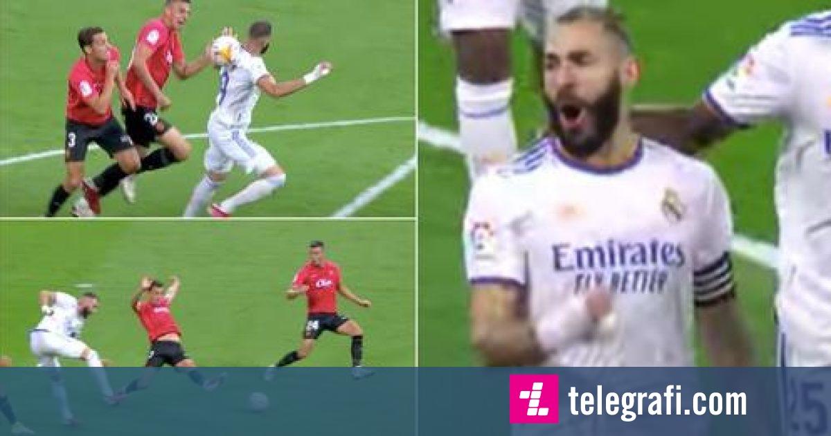 Goli i Benzemas duke përdorur shpinën po cilësohet si  çmendur