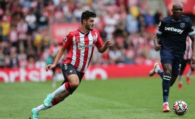Broja i pafat, shtylla ia ndalon festën e golit – trajneri i Southampton e vlerëson lartë paraqitjen e shqiptarit
