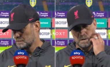 Një Jurgen Klopp me zemër të thyer reagon emocionalisht ndaj lëndimit të Harvey Elliott, derisa tregon për gjendjen e lojtarit