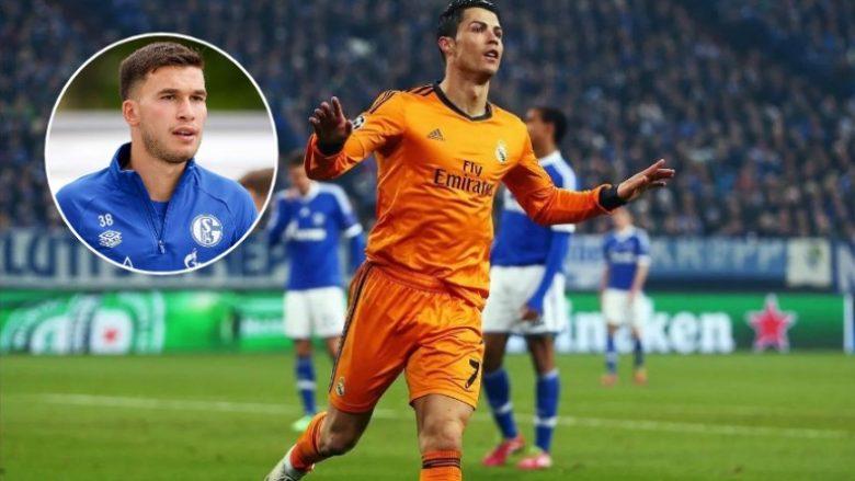 """""""Kisha frikë të kërkoja një fotografi nga Cristiano Ronaldo"""" – lojtari i Schalkes kujton takimin me ish-sulmuesin e Real Madridit"""
