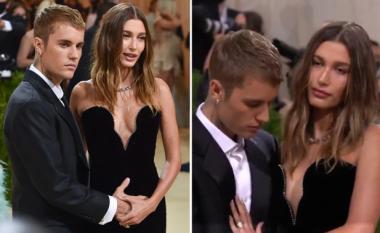 Justin Bieber nxit thashethemet se Hailey është shtatzënë, pasi shihet duke prekur barkun e saj në Met Gala