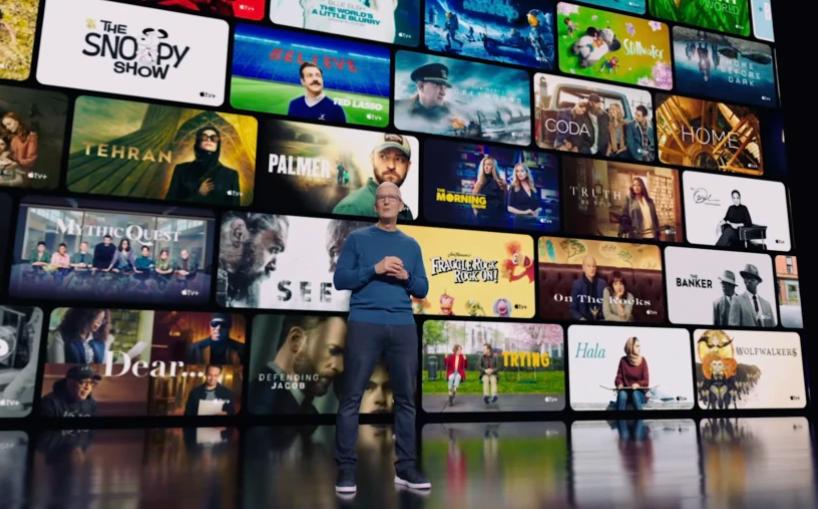 Tim Cook fillon shfaqjen me Apple TV +