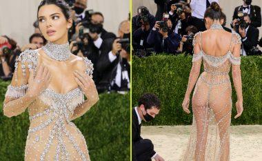 Kendall Jenner merr vëmendjen e plot me fustanin e tejdukshëm në Met Gala 2021