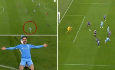 Jack Grealish shënoi gol mahnitës në debutimin e tij me Man Cityn në Ligën e Kampionëve
