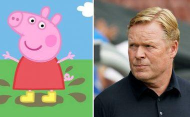 Ronald Koeman fshin postimin e çuditshme rreth Peppa Pig - tifozët e Barcelonës të habitur