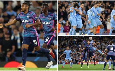 Het-triku i Nkunku nuk i mjafton RB Leipzigut, Manchester City shënon gjashtë gola në fitoren e parë