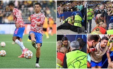 Ronaldo godet me top rojën e stadiumit – shkon ta shoh nga afër gjendjen e tij