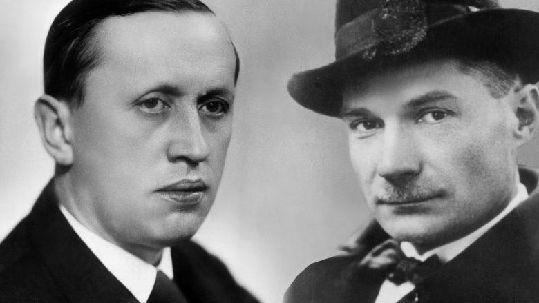Karel Čapek dhe Evgeny Ivanovich Zamyatin (fotomontazh)
