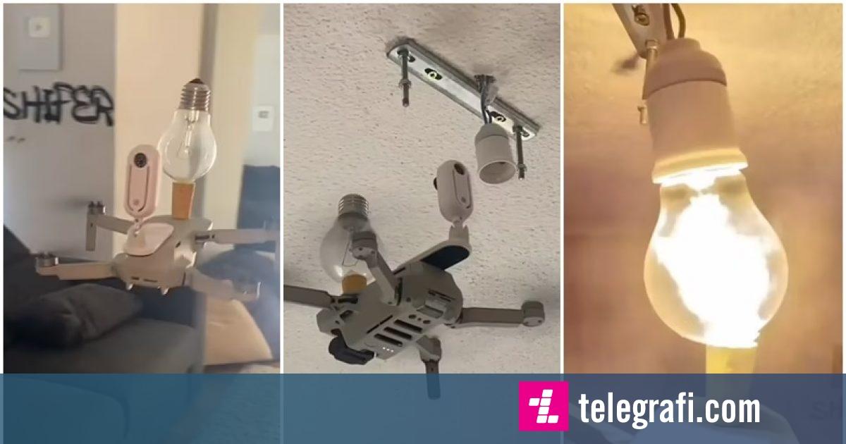 vendosja-e-nje-llambe-duke-perdorur-nje-dron-pamje-qe-tregojne-procesin-e-manovrimit