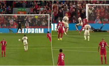 Momenti i lëndimit të Maignan gjatë mbrojtjes së penalltisë së Salah që i kushtoi me operacion